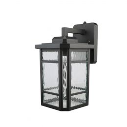 Outdoor Lantern with Clear Water Glass and LED Bulb - Matte Black, CO1290-BK2-07LA0, 1485002