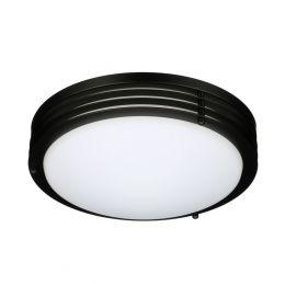 Majestic 11-in LED Flush Mount - Matte Black, FL1242-BK2-11LF1-G,1448567