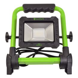 10-in Round Tube LED Fold Flat Plug-in Work Light - Green/Black, WL1186-BK2-00LF2