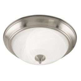 Taverna 15-in Fluorescent Flush Mount - Brushed Nickel, 4130-BN-I