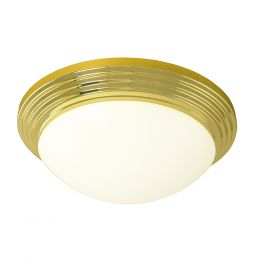Andiamo 14-in Fluorescent Flush Mount - Polished Brass, 4614-PB-IBX