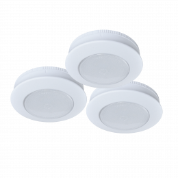 3-Pack 3-in Battery-Operated LED Tap Puck Light - White, BO1062-WHG-03LF3