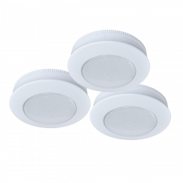 3-Pack 3-in Battery-Operated CCT Selectable Dimmable LED Tap Puck Light - White, BO1192-WHG-03LF3
