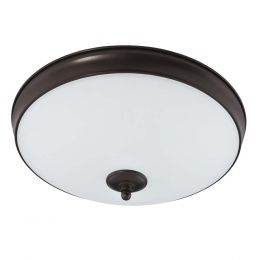 Legacy II 15-in LED Flush Mount - Bronze, FL1218-BR4-15LF1