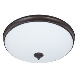 Legacy 19-in LED Flush Mount - Bronze, FL1059-BR4-19LF0