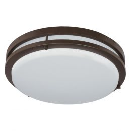 Jordan 11-in LED Flush Mount - Bronze, FL1060-BR4-11LF0