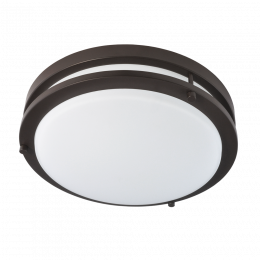 Jordan II 11-in LED Flush Mount - Bronze, FL1217-BR4-11LF1