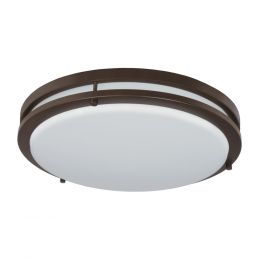 Jordan 14-in LED Flush Mount - Bronze, FL1060-BR4-14LF0