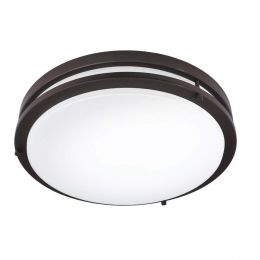 Jordan II 14-in LED Flush Mount - Bronze, FL1217-BR4-14LF1