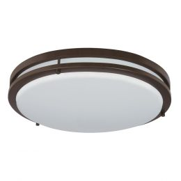 Jordan 17-in LED Flush Mount - Bronze, FL1060-BR4-17LF0