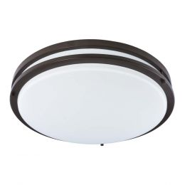 Jordan II 17-in LED Flush Mount - Bronze, FL1217-BR4-17LF2