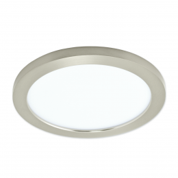 Plano 11-in White LED Flat Panel Ceiling Light with Nickel Frame, FL1196-NK3-11LF1