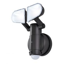 130-Degree 2-Head LED Motion-Activated Battery-Operated Security Flood Light - Bronze, SE1049-BP2-02LF0