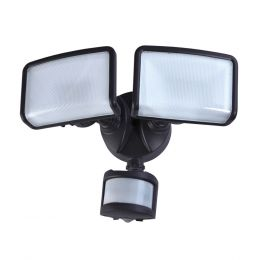 240-Degree 2-Head DownFire™ LED Motion-Activated Dusk to Dawn Security Flood Light - Bronze, SE1084-BP2-02LF0