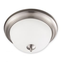 Taverna 12-in Fluorescent Flush Mount - Brushed Nickel, 4112-BN-I