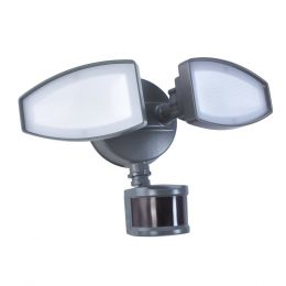 180-Degree Basic 2-Head LED Motion-Activated Direct Wire Security Flood Light - Bronze, SE1039-TBZ-02LF0