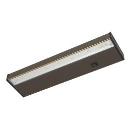 14-in LED Direct Wire or Plug-in Under Cabinet Light - Matte Bronze, UC1040-BR2-14LF4