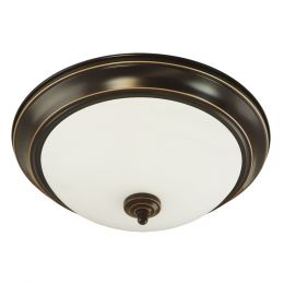 Brentwood 11-in Fluorescent Flush Mount - Rubbed Bronze, 41315-ORB-I
