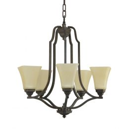 Metropolitan 5-Light Fluorescent Chandelier - Bronze, 4659-BZ-I