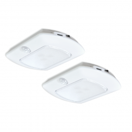 2-Pack 3.8-in Rechargeable Integrated LED Puck Lights - White, RE1120-WHG-04LF3