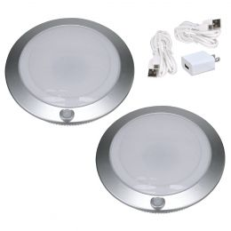 2-Pack 7-in Rechargeable LED Motion-Activated Closet Light - Silver, RE1146-SIL-07LF3