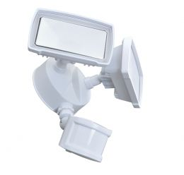 180-Degree 2-Head LED Motion-Activated Direct Wire Security Flood Light - White, SE1097-WH3-02LF0