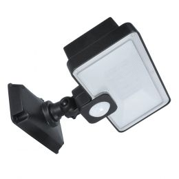 130-Degree 500-Lumen Battery-Operated Integrated LED Motion-Activated Flood Light, SE1289-BRS-02LF5