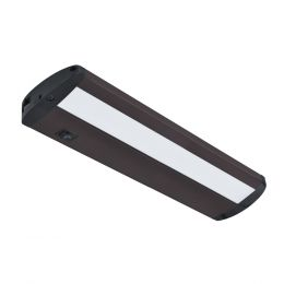 Designer Series 14-in LED Direct Wire or Plug-in Under Cabinet Light - Matte Bronze, UC1051-BR2-14LF0