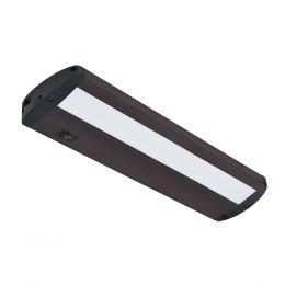 Designer Series 14-in LED Direct Wire or Plug-in Under Cabinet Light - Matte Bronze, UC1051-BR2-14LF0